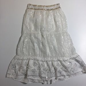 Other - Justice Girls white sparkly maxi skirt